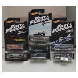Mixed Lot of Hot Wheels Fast & Furious Cars