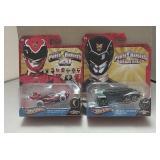 Pair of 2012 Hot Wheels Power Rangers Cars