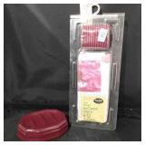 Vinyl Shower Curtain Set & Soap Dish