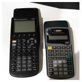 2 Texas Instruments Calculators
