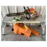 "Stihl chainsaw Model MS250C with 2 add'l and a Stihl file 1/4"", 3/8"" P"
