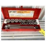 """Pittsburg Forge 21 piece 3/4"""" drive socket set in case"""