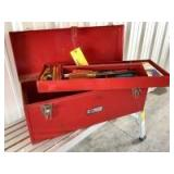 Loaded toolbox-wrenches, screwdrivers, carpenters pencils and more