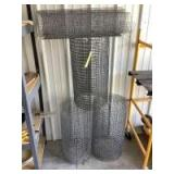 Four partial rolls of galvanized wire