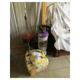 ProTeam SuperCoachbackpack vacuum and extra bags, cleaning rags and EZ Clean commercial vacuum