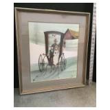 """Framed P Buckley Moss """"Hearts of Love"""" S/N 617/100 Measures 18 x 20"""