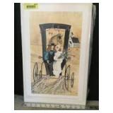 """P Buckley Moss print """"Just Married"""" S/N 296/1000 Measures 11 x 18"""