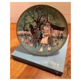 """P Buckley Moss Celebration Series Collector Plate # 1 in the Series """"Wedding Joy"""" Plate 1439/5000"""