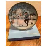 """P Buckley Moss Celebration Series Collector Plate #3 in the Series """"The Anniversary"""" Plate 0021/5000"""