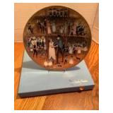 """P Buckley Moss Celebration Series Collector Plate # 4 in the Series """"Family Reunion"""" Plate 3367/5000"""