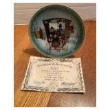 """P Buckley Moss Annual Art Plates series Signed/Dated """"Noel, Noel"""" 1984 First in the series 3800/5000"""