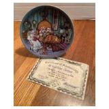 """P Buckley Moss Annual Art Plates series Signed/Dated """"The Night Before Christmas"""" 1986 Third in the series 3154/5000"""
