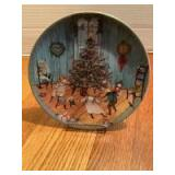 """P Buckley Moss Annual Art Plates series Signed/Dated """"Christmas Joy"""" 1988 Fifth in the series 0923/7500"""