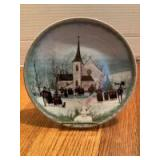 """P Buckley Moss Annual Art Plates series Signed/Dated """"Christmas Carol"""" 1989 Sixth in the series 2600/7500"""