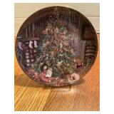 """P Buckley Moss Annual Art Plates series Signed/Dated """"Christmas Eve"""" 1990 Seventh in the series 0459/7500"""