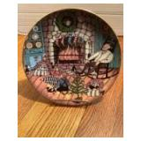 """P Buckley Moss Annual Art Plates series Signed/Dated """"Christmas Warmth"""" 1992 Ninth in the series 3053/7500"""