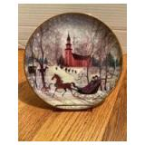 """P Buckley Moss Annual Art Plates series Signed/Dated """"Christmas Night"""" 1994 Eleventh in the series 1707/7500"""