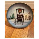 """P Buckley Moss Annual Art Plates series Signed/Dated """"Christmas at Home"""" 1995 Twelfth in the series 2449/5000"""