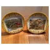 """Two Will Moses collector plates """"Spring Recess"""" 134/7500 and """"September Fair"""" 401/7500"""