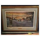 """Patrick J Costello framed & signed """"Cocoa Time"""" Measures 33 x 23"""