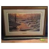 """Patrick J Costello framed """"Early Arrivals"""" S/N 27/380 Measures 33 x 23"""