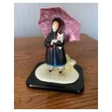 """P. Buckley Moss 'Sunshine Girl' figurine by Anna Perenna. Made in Italy. Measures approximately 7"""" x 5.5. #13?/500."""