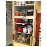 Silverware, Corelle dishes, tea pot, ramekins, drinking glasses, coffee mugs and more