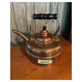 Simplex Made in England Solid Copper Kettle