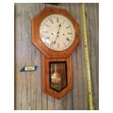 Hermle wall clock. No key.