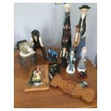 Various Amish oriented figurines