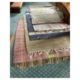"""5 rag rugs-One 66""""L, the rest are approximately 42""""L"""