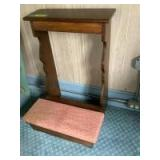 """Pine kneeler for praying at home during COVID-19 Measures 21""""W x 31""""T"""