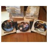 """Collector's plates. Includes 'Rockwell's Light Campaign Series"""", Rockwell's American Dream Series"""" and Janice Tanton's """"Christmas Memories Collectio"""