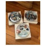 'Moments of Truth' by Kurt Ard collector's plates. Complete set of 6 and 'A Garden of Verses' plate collection by Jessie Wilcox Smith. Complete set of