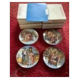 """Six Stewart Sherwood Dominion china collector plates """"A Victorian Christmas"""" Boxes labeled accordingly"""
