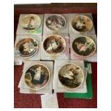 """Eight Royal Doulton Charles Burton Barber collector plates """"A Victorian Childhood"""" series with Certificates of Authenticity See list for plate names"""