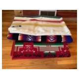 Three Pendleton blankets