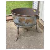"""Cast iron cauldron Measures 24"""" x 21"""""""