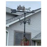 Firemen's weather vane Buyer will need to remove from post-held on w/ 4 flat head screws