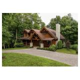 Online Only Real Estate Auction: Luxury Log Cabin on 6+ Wooded Acres