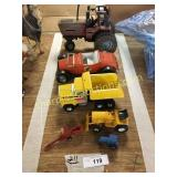 Toy tractor, car, truck