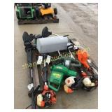 Pallet of trimmers, pruners, misc