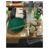 Stemware, thermos, bags, misc