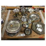 Silver s/p, bowls, platters, misc