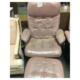 Leather chair/ottoman