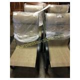 Patio chairs, quantity 4