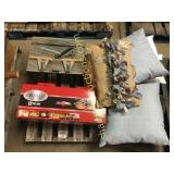 Pallet of pillows, tool, misc