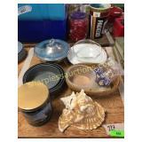 Pans, bowls, platter misc