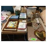 Steins, picture frames, misc