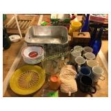 Roaster, Coca Cola bowls, mugs, misc